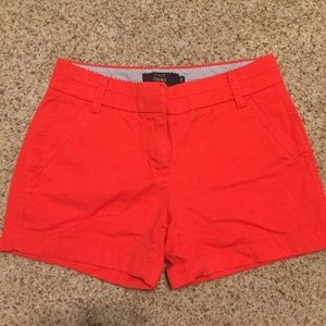 Size OO JCrew Chino Red Shorts